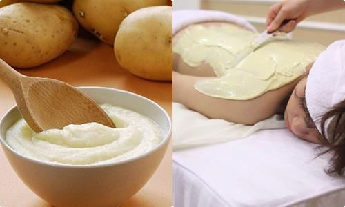 trắng da với khoai tây