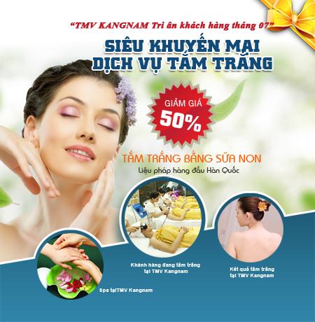Khuyến mãi tắm trắng tại bệnh viện thẩm mỹ Kangnam