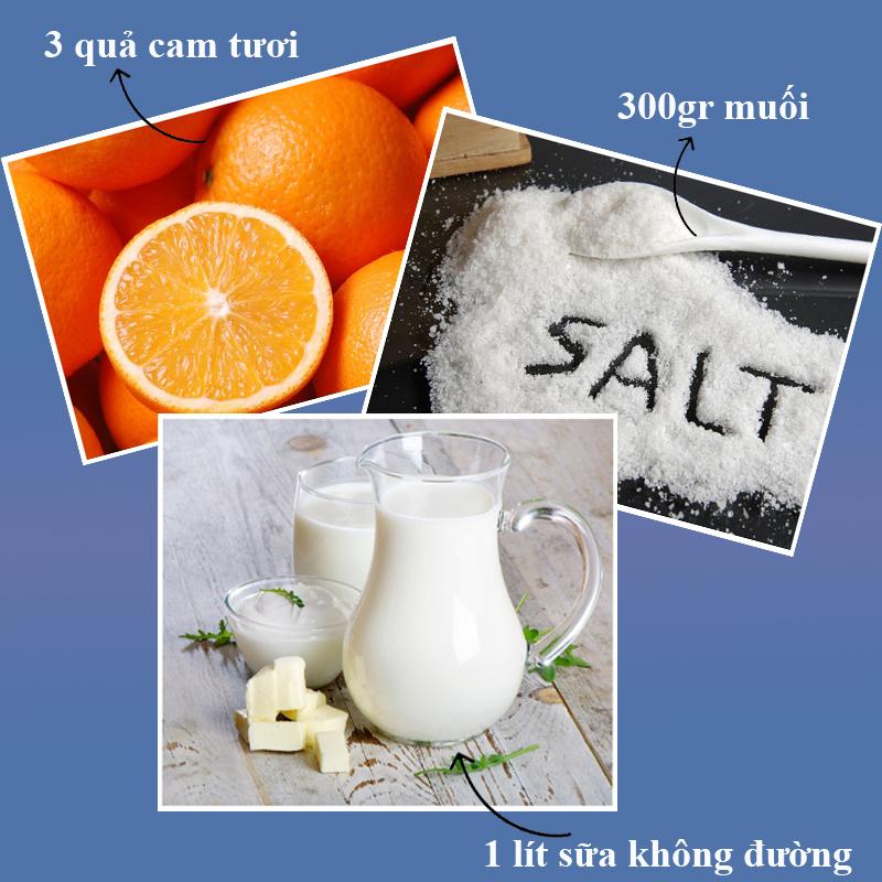 Cách tắm trắng hiệu quả bằng muối với cam, sữa tươi