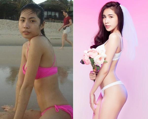 """Sao Việt """"lột xác"""" nhờ tắm trắng da toàn thân 3"""