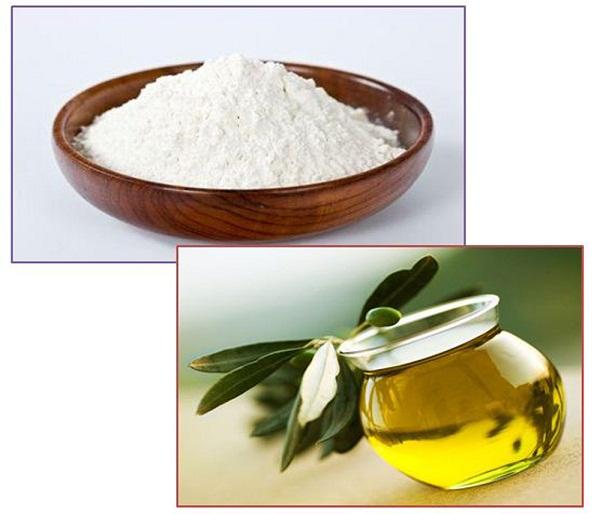 tắm trắng bằng cám gạo và tinh dầu oliu tại nhà