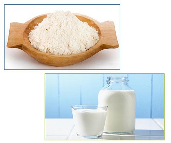 tắm trắng bằng cám gạo và sữa tươi