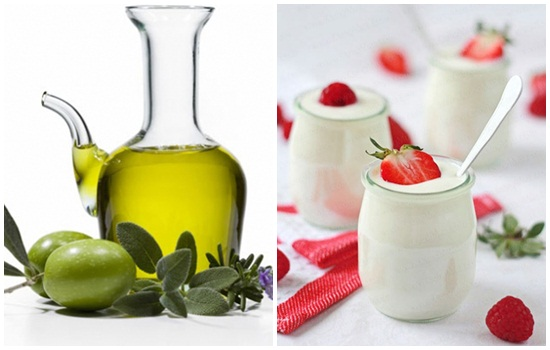 Dùng dầu oliu và sữa chua làm trắng da mặt tự nhiên