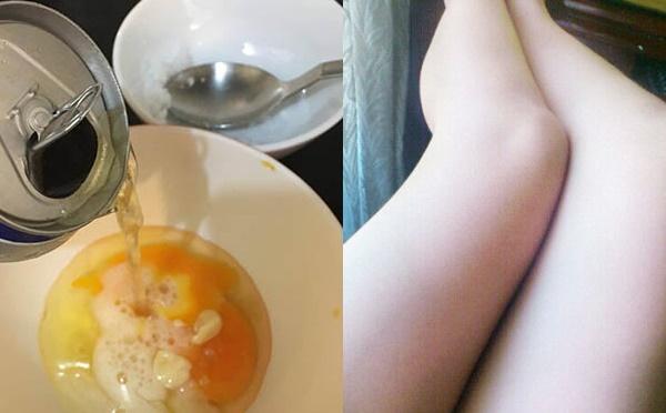 cách tắm trắng bằng bia trứng gà