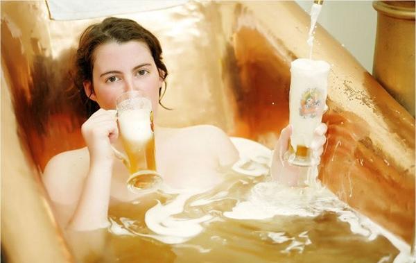 tắm trắng bằng bia