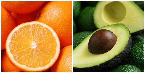 Mặt nạ dưỡng trắng da kết hợp giữa bơ và trái cam