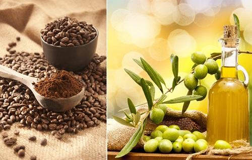 Image result for Mặt nạ cà phê, dầu oliu và nước cốt chanh