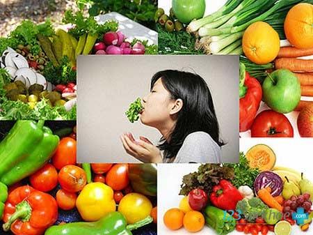 Ăn nhiều rau xanh giúp dưỡng trắng da