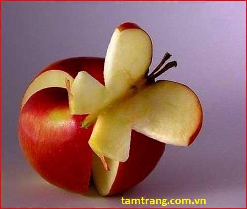 Hoa quả với làn da trắng mịn